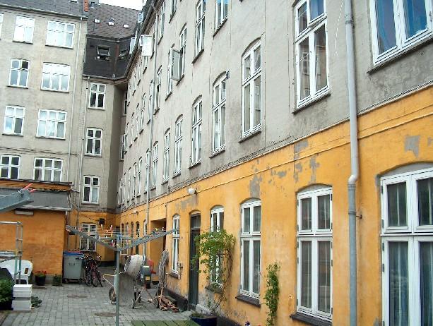 Gårdrummet før facaderenovering